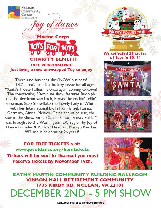 MCC Frosty Follies 2018 tv Vinson Hall Tickets Flyer