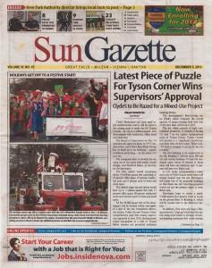 Sun Gazzette Front Page